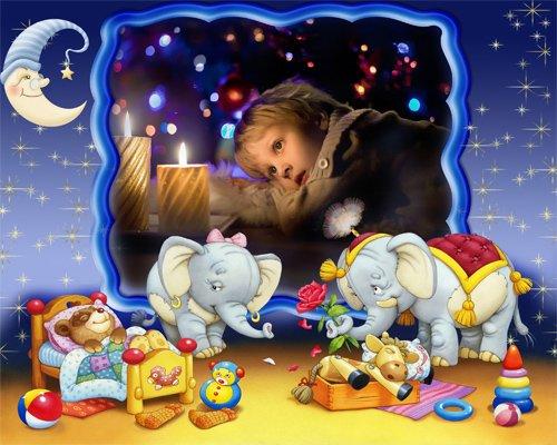 Рамка детская  '' В долгих лабиринтах сна ''