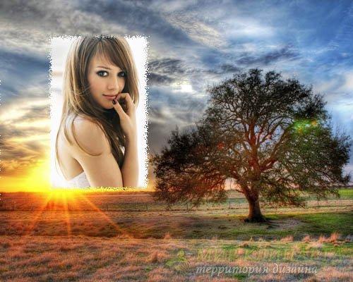 Рамка для фотошоп - Красивый пейзаж