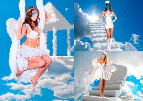 Шаблоны для фотошопа  - Ангелы
