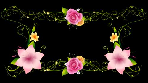 Футаж-Цветы в Ажуре