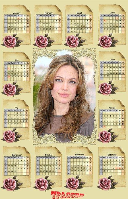 Календарь на 2015 год - Аромат роз