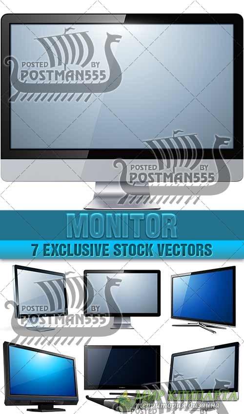 ТВ Монитор, плазменная панель | TV Monitor, panel plasma - вектор