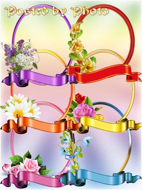 Цветочные рамки - вырезы для создания виньеток