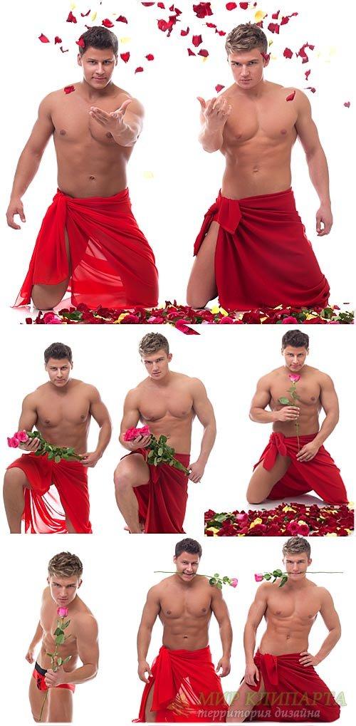 Мужчины с розами / Men with roses - Stock Photo
