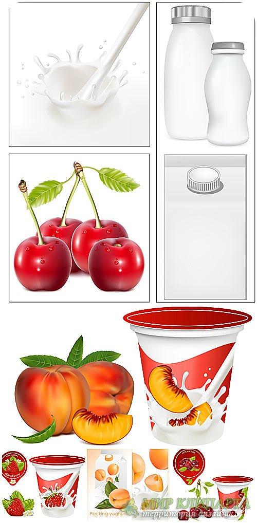 Фрукты, фруктовые этикетки в векторе / Fruit, fruit labels vector