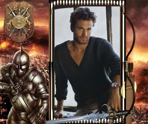 Рамка мужская  '' Доблестный рыцарь''