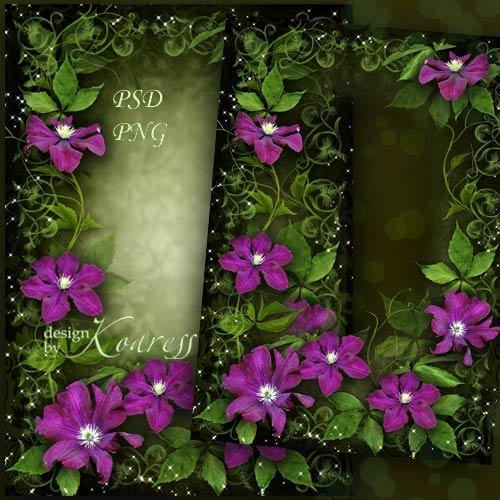 Женская рамка для фото - Яркие, чудесные цветы