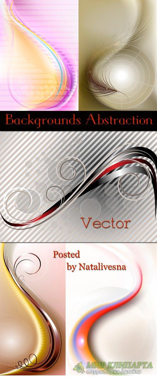 Абстрактные  фоны с линиями в Векторе