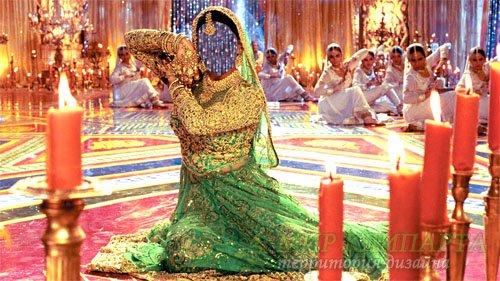 Шаблон для фото - Танцовщица в индийском наряде