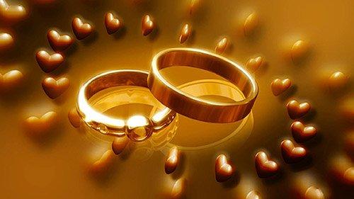Футаж - Обручальные кольца,сердца