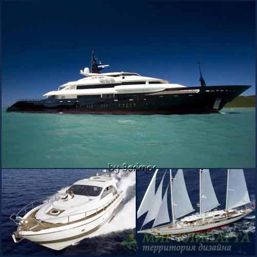 Фото разных  моторных яхт небывалой красоты