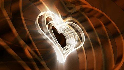 футаж-Видео заставка с сердцами