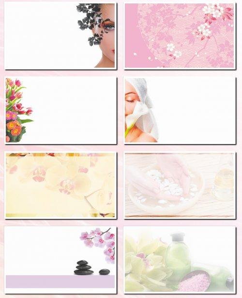 Фоны для визиток и дизайна: салон красоты. 32 JPEG