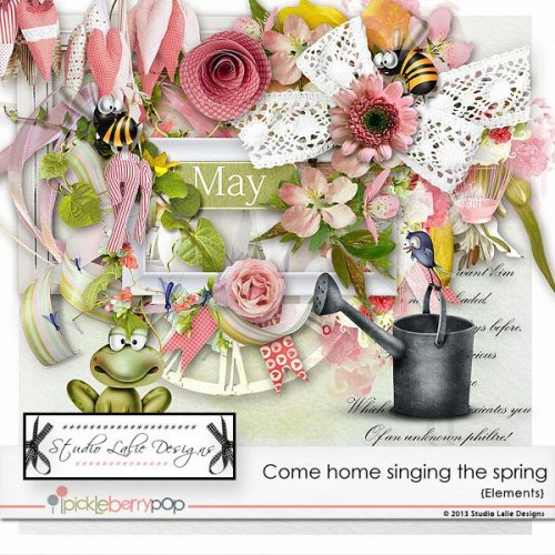Скрап-набор Come home singing the spring