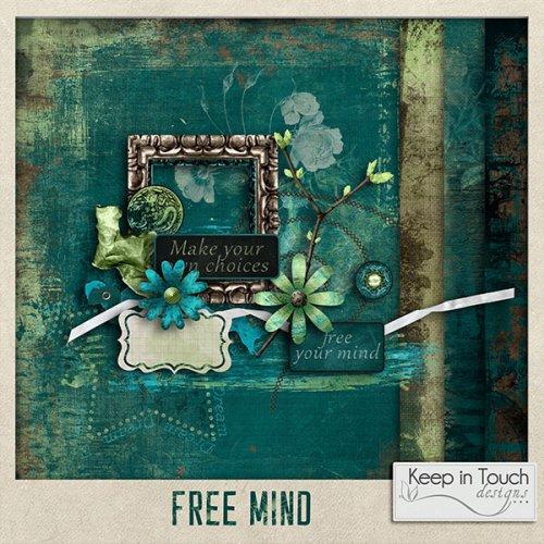 Мини скрап-набор Free mind