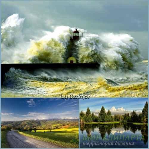 Фото разнородных и великолепных пейзажей HD
