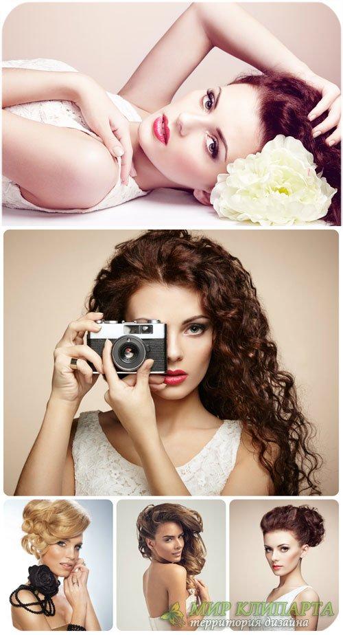 Элегантные девушки / Beautiful elegant girl - Stock Photo
