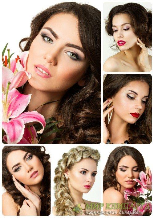 Красивые девушки, девушка с лилией / Beautiful girl, woman with lily
