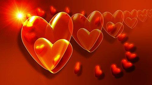 Видео-заставка Сердца