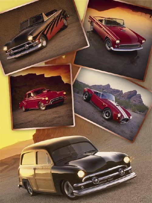 Зарубежные ретро автомобили (подборка изображений)