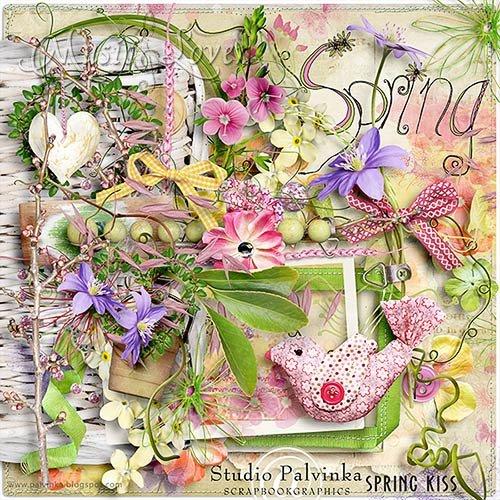 Скрап-набор - Spring Kiss