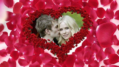 Романтический футаж рамка-Розовое Сердце