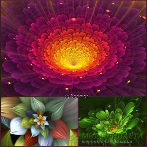 Необычайные и различные векторные цветы