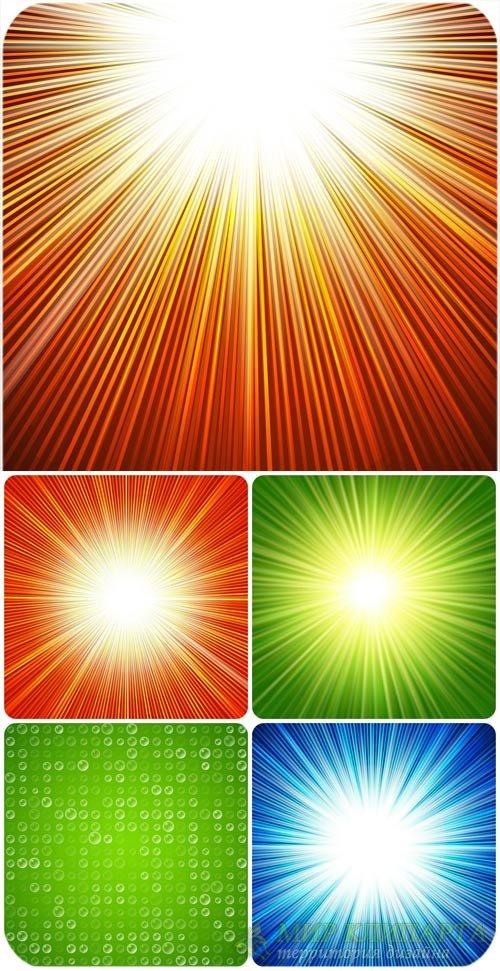 Векторные фоны с сияющей абстракцией / Vector background with glowing abstr ...