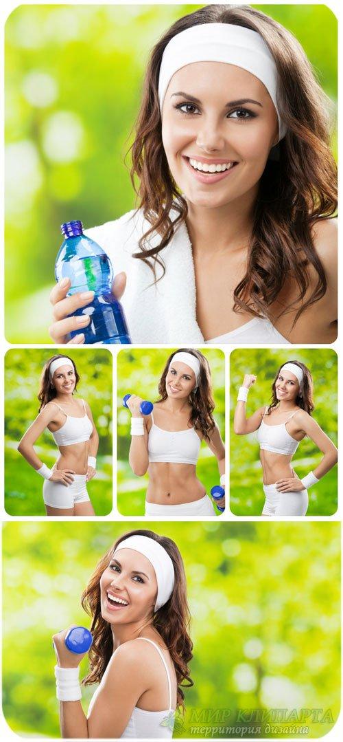 Девушка,  спорт и здоровье / Girl, Sports and Fitness - Stock Photos
