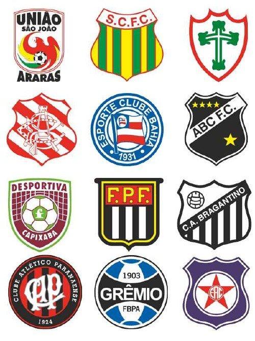 Логотипы и эмблемы футбольных команд Бразилии (вектор)