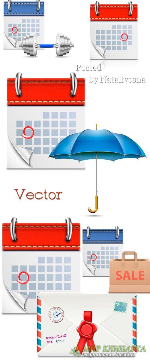 3D календарь - Графика  в Векторе
