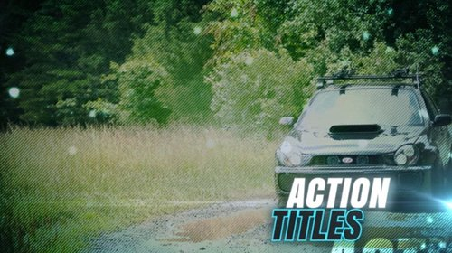 Action Titles After Effects Template