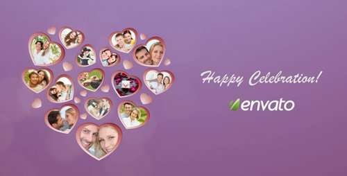 Heart Picture Frames - Project for After Effects (Videohive)