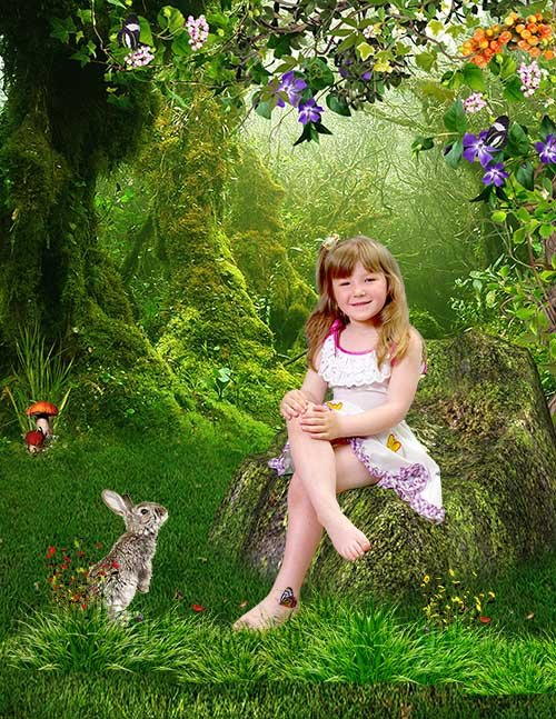 Шаблон детский В летнем лесу