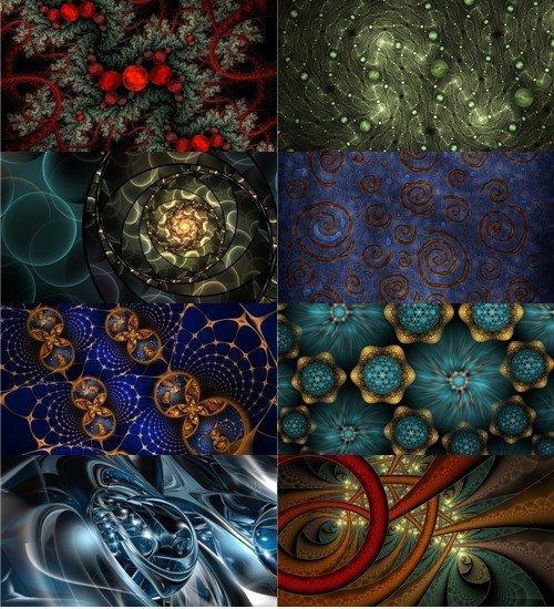 Интересные обои абстракций и фрактал в картинках