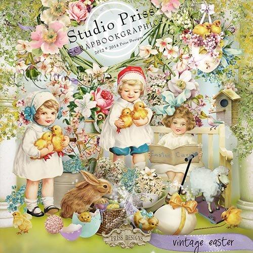 Скрап-набор - Vintage Easter
