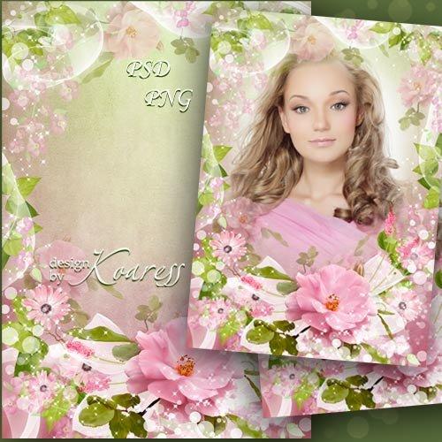 Рамка для фотошопа - Нежные краски весны