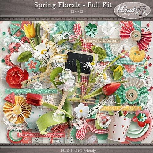 Скрап-набор - Spring Florals
