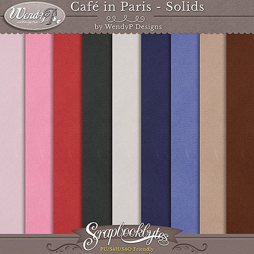 Скрап-набор - Cafe in Paris
