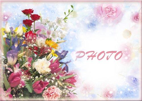 Рамка для фотографии - Красивый букет цветов