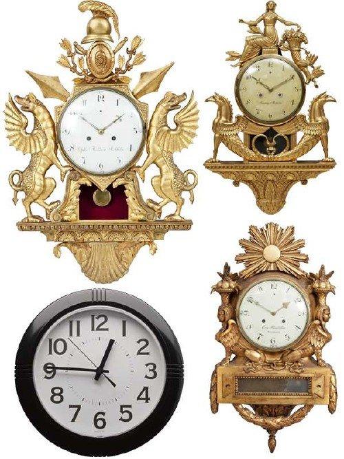 Часы настенные (подборка клипарта)