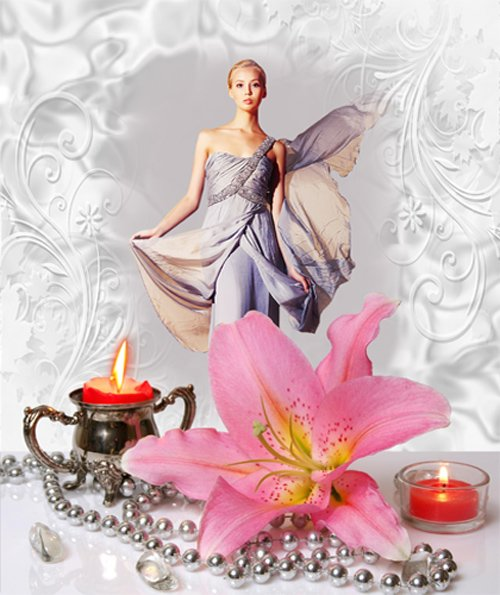 Рамка женская – Цветок лилии