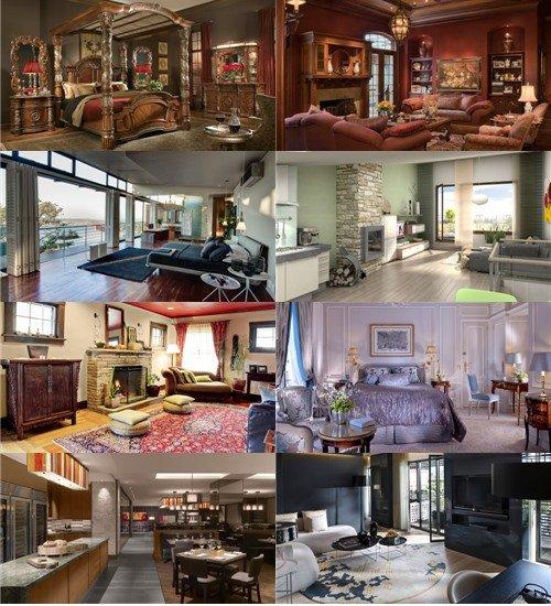Фотографии разных помещений интересного дизайна