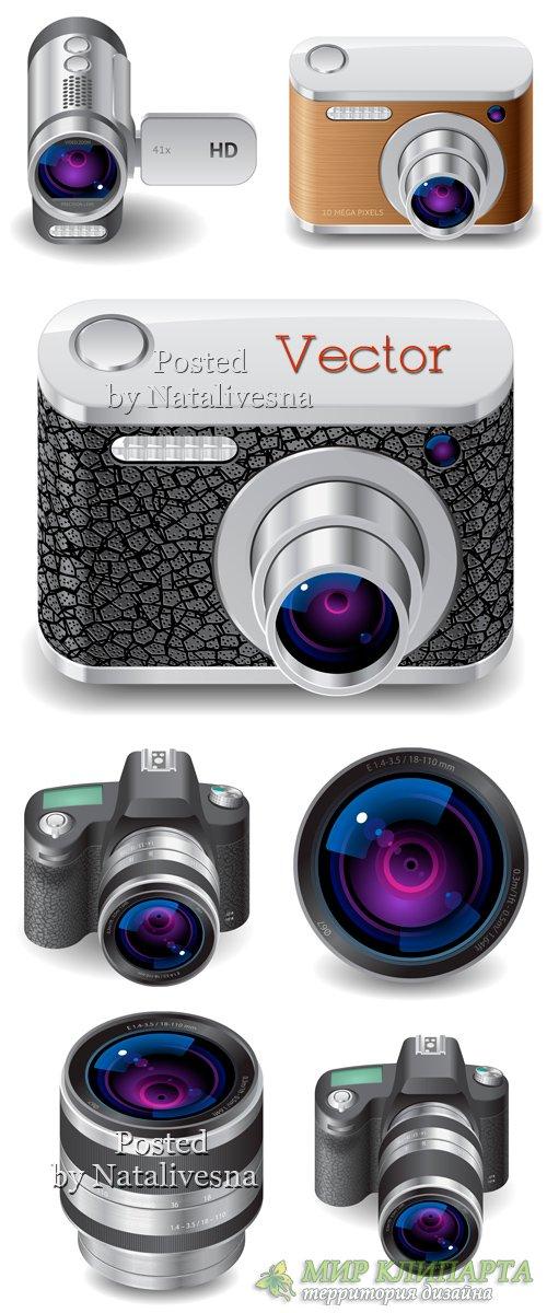Векторный клипарт – Фотоаппарат и аксессуары