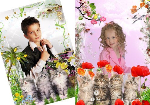 Детские рамки - Мои любимые зверюшки