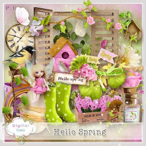 Скрап-набор Hello Spring
