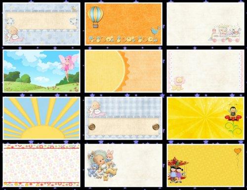Детский мир:  фоны для визиток и  творческих работ. 13 JPEG