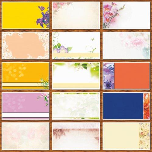 Фоны для визиток и дизайна цветочные