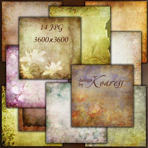 Винтажные фоны с цветами и цветочными узорами для дизайна