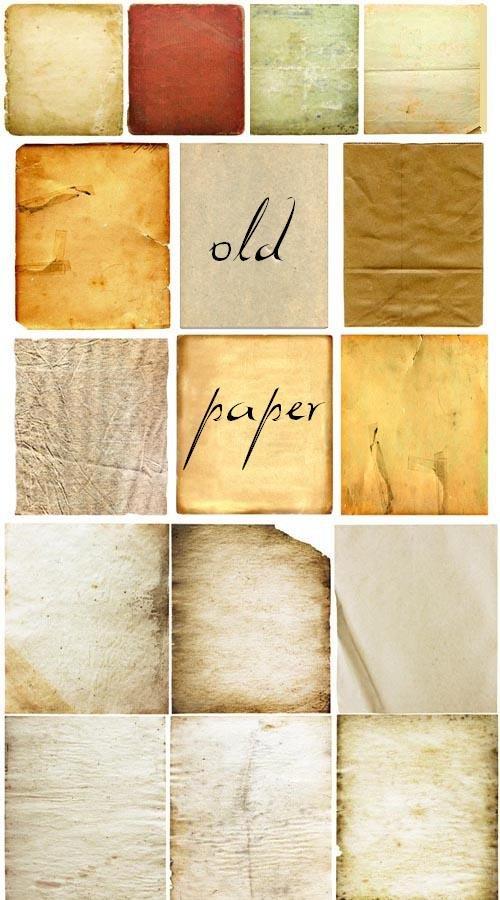 Текстуры старых бумажных обложек и листов
